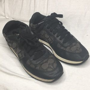 Coach Farrah sneakers in black and charcoal